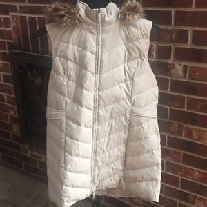 Coldwater Creek Quilted Vest Removable Hood